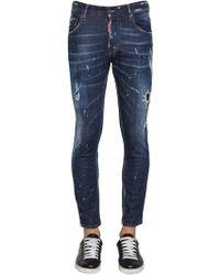 "DSquared² - 16cm Jeans Aus Baumwolldenim ""skater"" - Lyst"