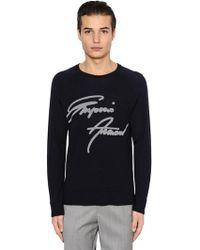 Emporio Armani - Signature Wool Jacquard Jumper - Lyst