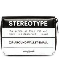 Maison Margiela - Stereotype Leather Zip Around Wallet - Lyst