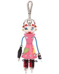 Prada - Nana Robot Bag Charm - Lyst
