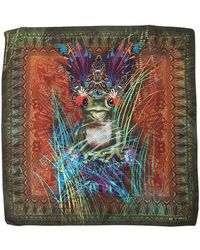 Etro - Psychedelic Frog Silk Pocket Square - Lyst