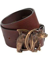 DSquared² - 40mm Dd Bear Buckle Leather Belt - Lyst
