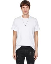 The Kooples - Skull Necklace & Heavy Jersey T-shirt - Lyst