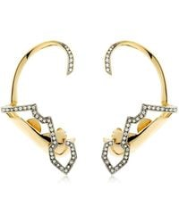 Schield - Geometric Sculpture Earrings - Lyst