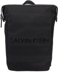 Calvin Klein - Logo Printed Nylon Backpack - Lyst