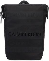 Calvin Klein | Logo Printed Nylon Backpack | Lyst