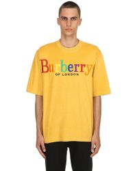 Burberry - Over Rainbow Logo French Terry T-shirt - Lyst