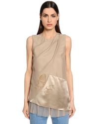 Vionnet - Tulle & Silk Satin & Anvers Satin Top - Lyst