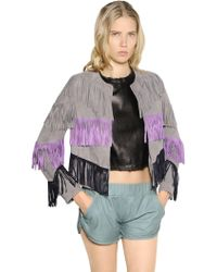 DROMe - Fringed Suede Jacket - Lyst