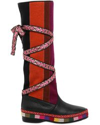 Etro - 20mm Patchwork Felt & Leather Boots - Lyst
