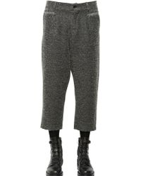 Damir Doma - 23cm Cropped Wool Blend Boucle Pants - Lyst