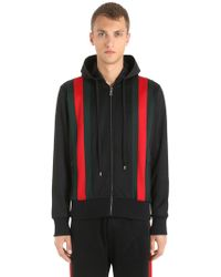 Gucci - Web Stripes Jersey Bomber Track Jacket - Lyst