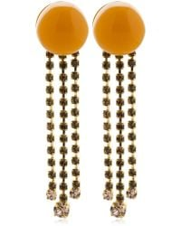 Marni - Dot With Crystal Fringe Clip-on Earrings - Lyst