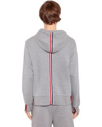 Thom Browne - Hooded Cotton Jersey Sweatshirt - Lyst