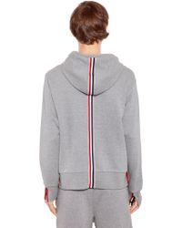 Thom Browne - Hooded Cotton Jersey Sweatshirt - Lyst