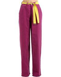 AALTO High Waist Wide Leg Cotton Denim Jeans - Purple
