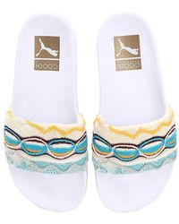 Puma Select - Coogi Knit & Rubber Slide Sandals - Lyst