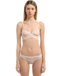"Stella McCartney - Reggiseno ""sophie Surprising"" In Pizzo E Rete - Lyst"
