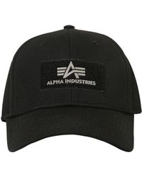 Alpha Industries - Logo Patch Cotton Baseball Cap - Lyst