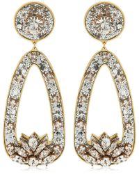 Shourouk - Glitter Drop Clip-on Earrings - Lyst