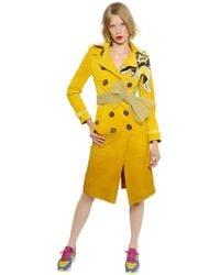 Burberry Prorsum - Gradient Suede Trench Coat W/ Bee Detail - Lyst