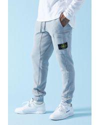 Stone Island - 60320 Brushed Cotton Fleece Sweatpants - Lyst