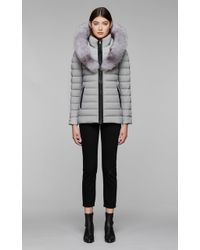 Mackage - Kadalina-x Light Down Jacket With Fur Trimmed Collar In Mineral - Lyst