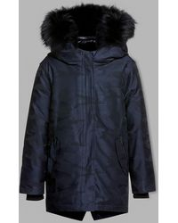Mackage - Lenny-j Hooded Down Jacket With Camo Print And Fur Trim - Lyst