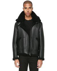 Mackage - Rey-sp Hip Length Sheepskin Jacket With Hood - Lyst