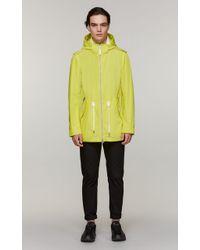Mackage - Mack Mid-length Rain Coat With Removable Hood - Lemon - 36 - Lyst
