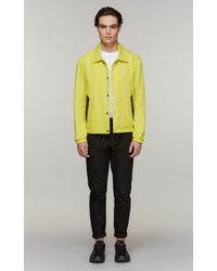 Mackage - Leo-r Short Rain Jacket With Leather Accents And Snap Closure - Lemon - 36 - Lyst