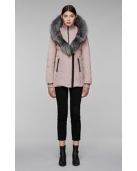 Mackage - Adali-x Fitted Winter Down Coat With Hood And Natural Fur - Lyst