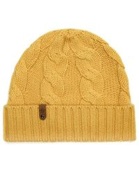 Mackage - Darian Cashmere Knit Hat For Women In Gold - Lyst