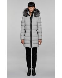 Mackage - Calla Lightweight Down Coat With Fur Trimmed Hood In Mineral - Lyst