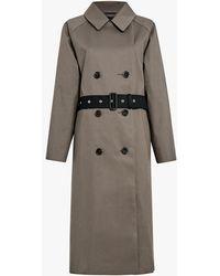 Mackintosh - Taupe X Black Bonded Cotton Oversized Trench Coat - Lyst