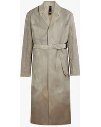 Mackintosh - Beige Treated Bonded Cotton Belted Coat - Lyst