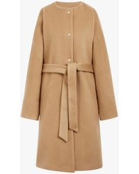 Mackintosh - Beige Wool & Cashmere Belted Coat Lm-085f - Lyst