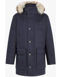 Mackintosh - Navy Bonded Cotton Down Coat - Lyst