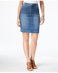 Style & Co. - Denim Skirt, Rinse Wash - Lyst