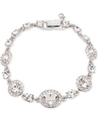 Givenchy - Faceted Stone And Pavé Link Bracelet - Lyst