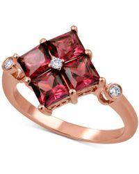 Macy's - Rhodolite Garnet (2-1/2 Ct. T.w.) & Diamond Accent Statement Ring In 14k Rose Gold - Lyst