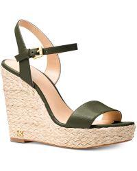 c957f0753852 Michael Kors Michael Pippa Gingham Espadrille Wedge Sandals