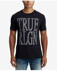 True Religion - Crafted Chain Logo T-shirt - Lyst