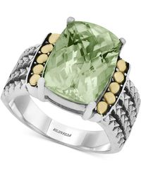 Effy Collection - Green Amethyst (5-3/4 Ct. T.w.) Ring In 18k Gold And Sterling Silver - Lyst