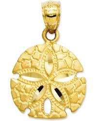 Macy's | 14k Gold Charm, Sand Dollar Charm | Lyst