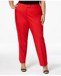 Anne Klein - Plus Size Bowie Tab-waist Trousers - Lyst