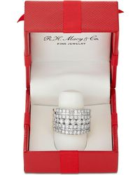 Macy's - Five-row Diamond Band (3 Ct. T.w.) In 14k Gold And White Gold - Lyst
