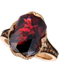Le Vian - Pomegranate Garnettm (6-9/10 Ct. T.w.) And Diamond (3/8 Ct. T.w.) Ring In 14k Rose Gold - Lyst