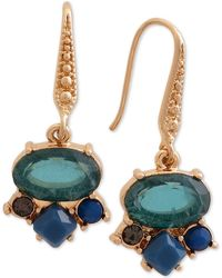 Laundry by Shelli Segal - Gold-tone Stone Cluster Drop Earrings - Lyst