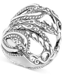 "Carolyn Pollack - ""lasting Connections"" Openwork Statement Ring In Sterling Silver - Lyst"